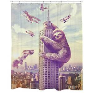 Slothzilla Shower Curtains