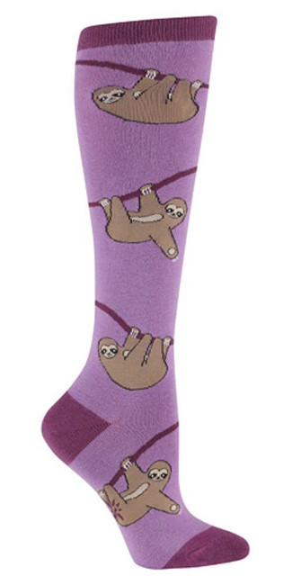 Women's Knee High Sloth Socks
