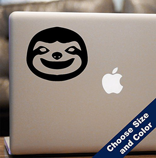 Laptop Car Sloth Sticker