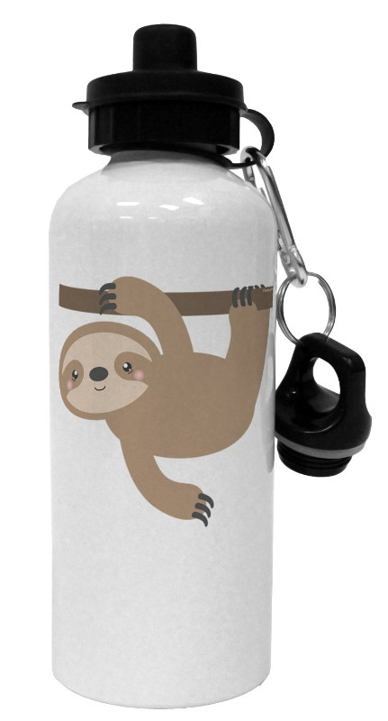 White Sloth Water Bottle