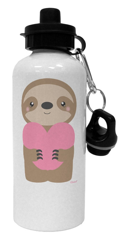 Valentines Sloth Water Bottle