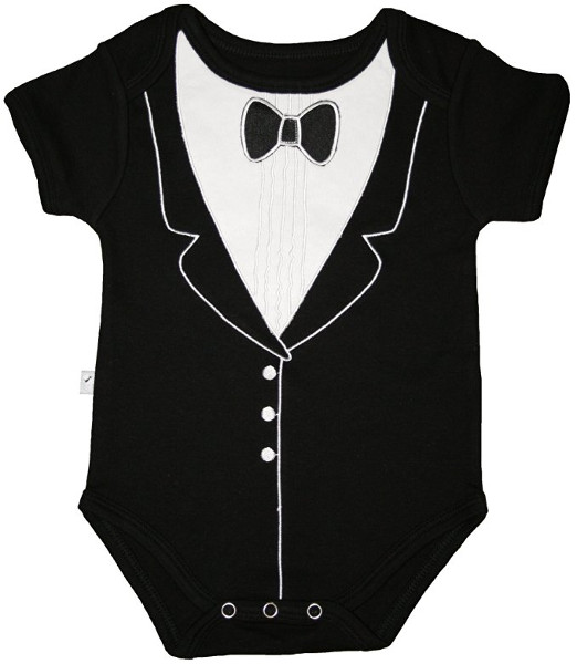 Funny Gentleman Suit Baby Clothes