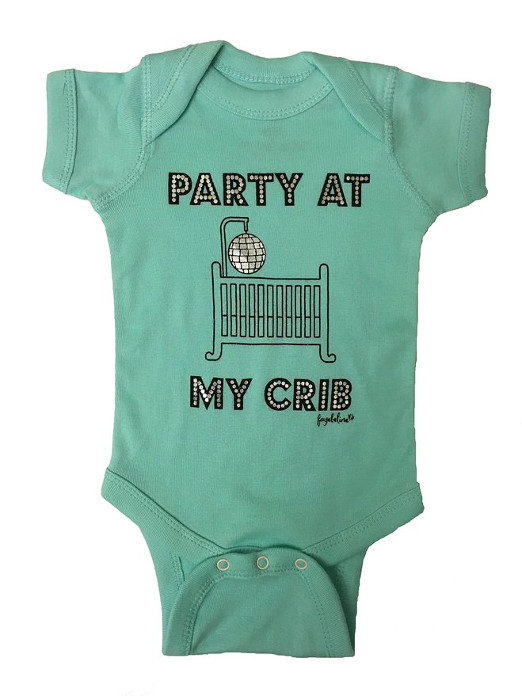 Party At My Crib Funny Unisex Baby Clothes