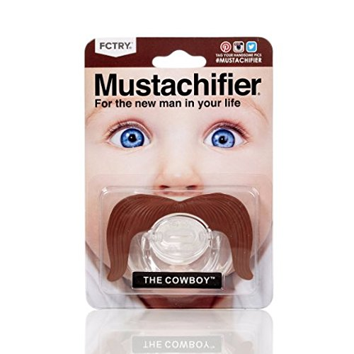 Funny The Cowboy Mustache Pacifier