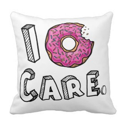 Funny Simpsons I Dont Care Pillow Case