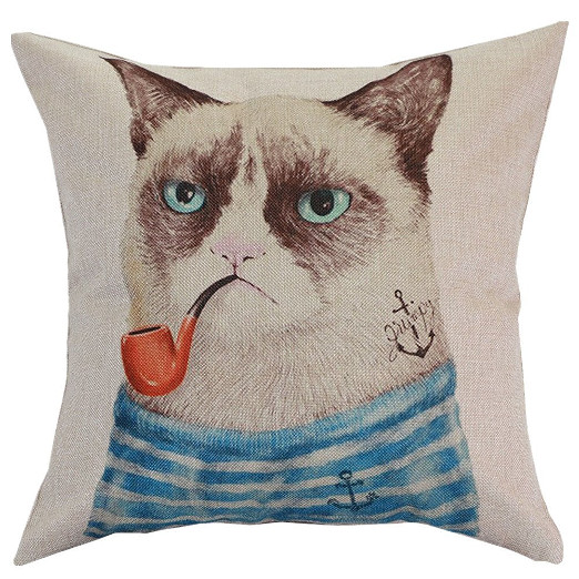 Grumpy Cat Funny Pillow Cushion