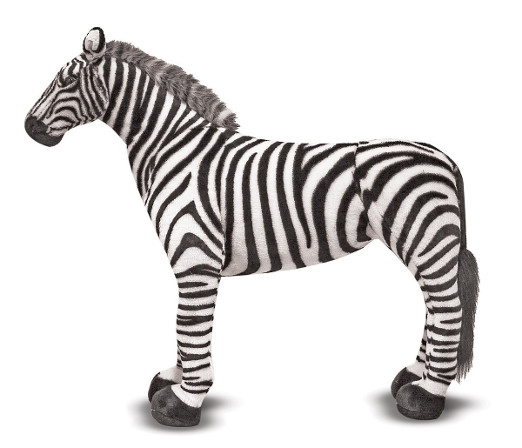 Giant Life Like Plush Zebra Toy