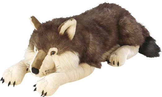 Cuddly Stuffed Wolf Plush Toy