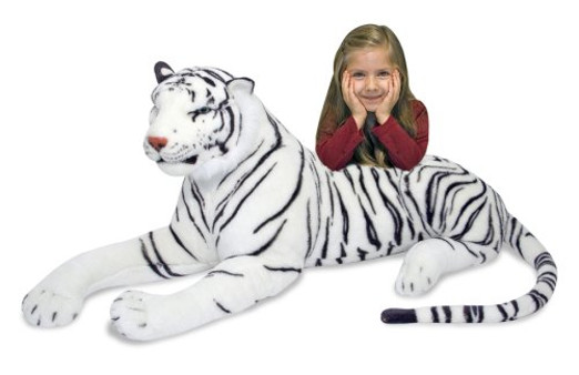 Giant White Tiger Plush Toy
