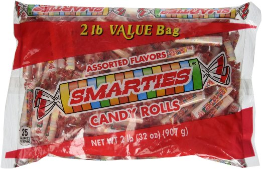 Smarties Hallowen Candy Rolls