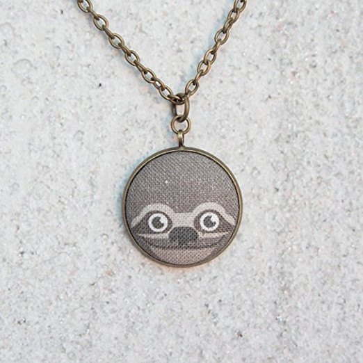 Cute Fabric Sloth Necklace