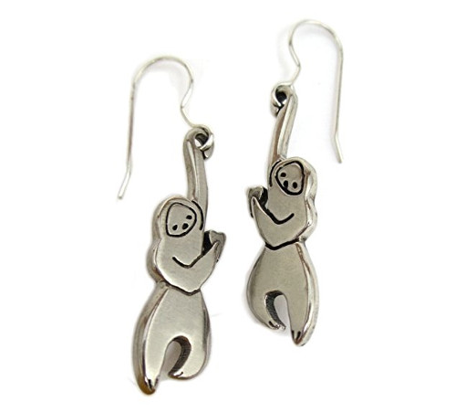 Cute Hanging Sloth Earrings