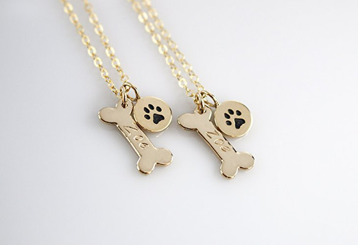 Personalized Dog Bone Animal Necklace