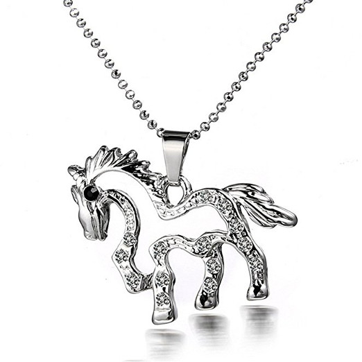 Stunning Horse Necklace Pendant