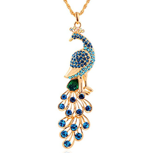 Stunning Peacock Animal Necklace Pendant