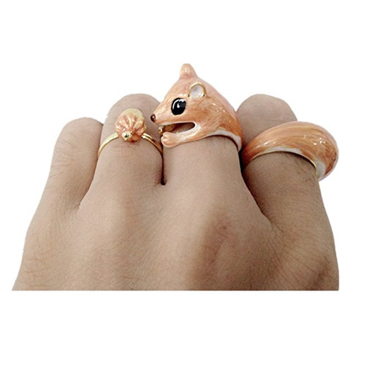 Lovely Squirrel Animal Ring