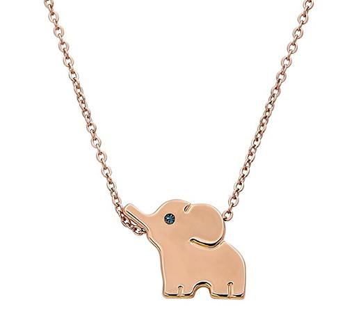 Adorable Pink Elephant Necklace