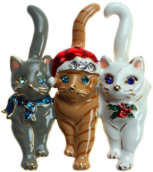 Cute Christmas Cat Pins