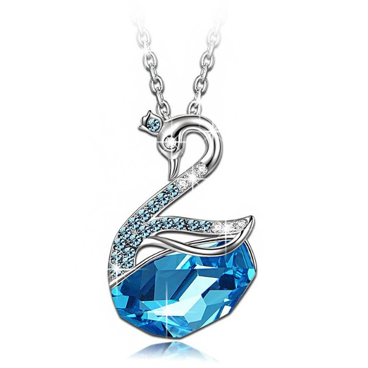 Beautiful Blue Swan Animal Pendant