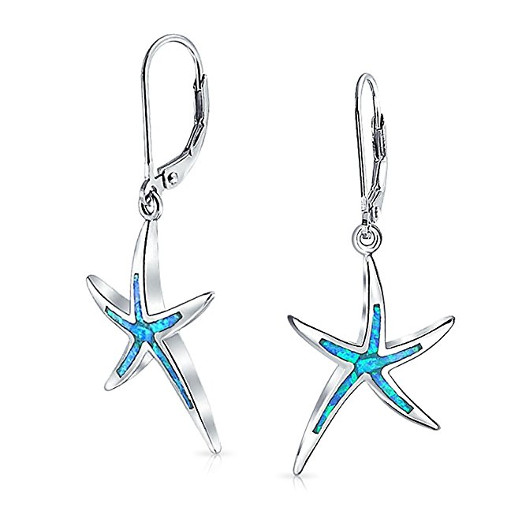 Adorable Blue Starfish Earrings