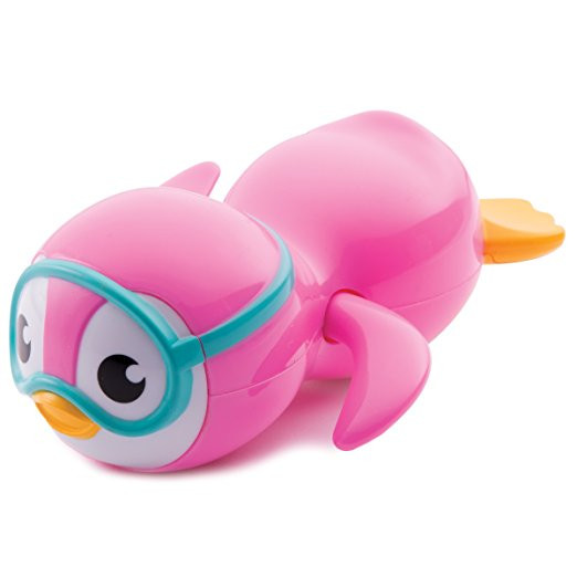 Pink Wind Up Penguin Bath Toy