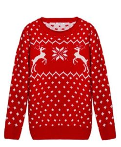 Reindeer Knit Christmas Sweater Girl