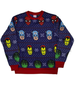 8c3ae8cf Men's Marvel Avengers Festive Team Christmas Editions Ugly Christmas  Sweatshirt