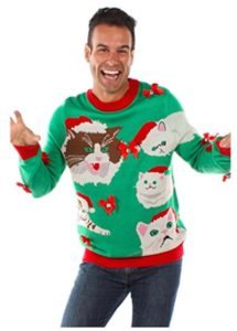 Crazy Cat Ugly Christmas sweater
