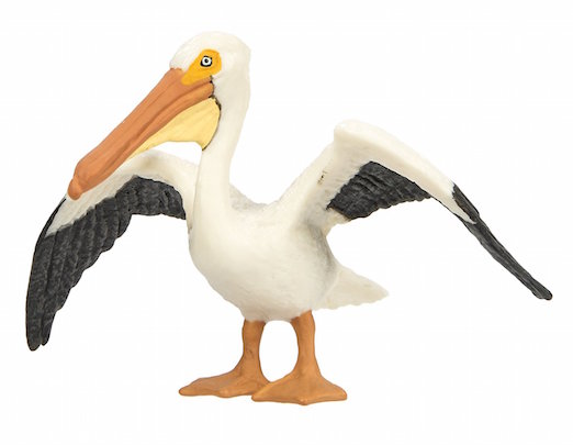 White Pelican Figurine Toy