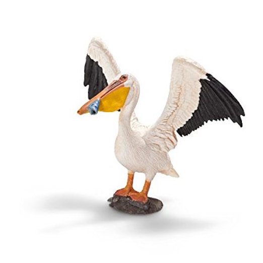 Cool White Pelican Figurine Toy