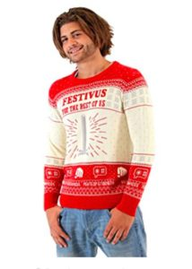 Festivus Seinfeld Red and Cream Sweater