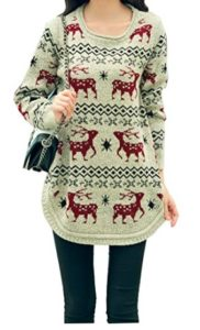 Reindeer Classy Ugly Christmas Sweater