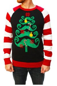 Mustache Christmas Jumper