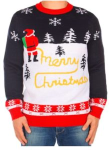 Yellow Snow Santa Sweater