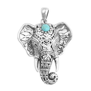 silver plated elephant pendant
