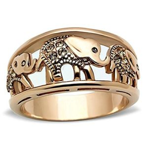 elephant ring hypo-al stainless steel