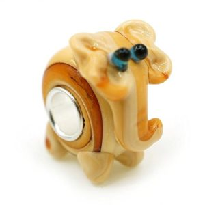 murano glass lucky elephant charm bead