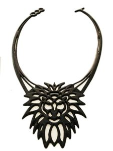 Silicone lace art Leo the lion fashion necklace