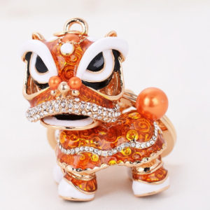 keychain pendant, chinese dance lion