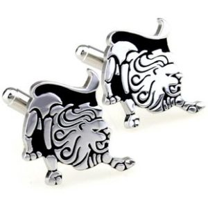 animal lion cufflinks