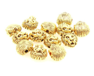 gold plated lion head beads
