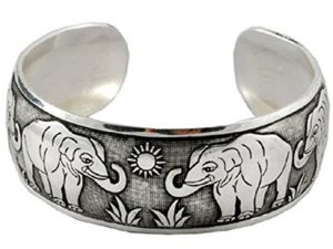 Unique unisex cuff bracelet, elephant design