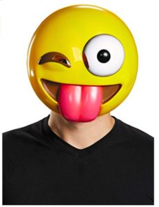 Funny Winky Face Tongue Out Emoji Mask