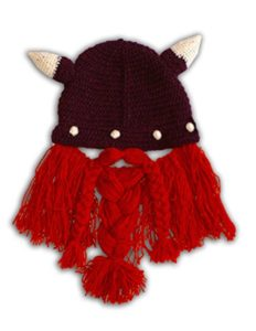 Funny Knitted Viking Knight Mask Hat