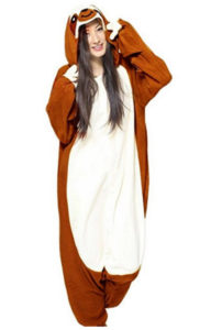 Adult Sloth Costume Animal Fancy Dress Outfit