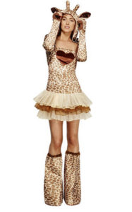 Women's Giraffe Animal Costume Fancy Dress Outfit