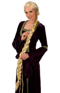 Blonde Princess Rapunzel Dress Up Wig