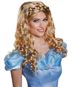 Women's Cinderella Blonde Wig Dress Up