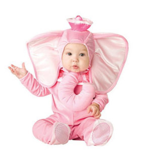 Pink Elephant Baby Girl Costume