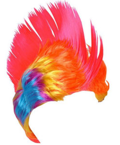 Stylish Rainbow Mohawk Dress Up Wig
